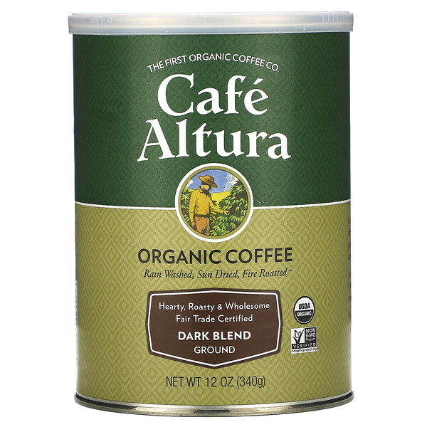 Organic Coffee, Dark Blend, Ground, 12 oz (340 g)