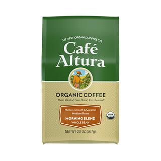 Cafe Altura, Organic Coffee, Morning Blend, Whole Bean, Medium Roast, 20 oz (567 g)
