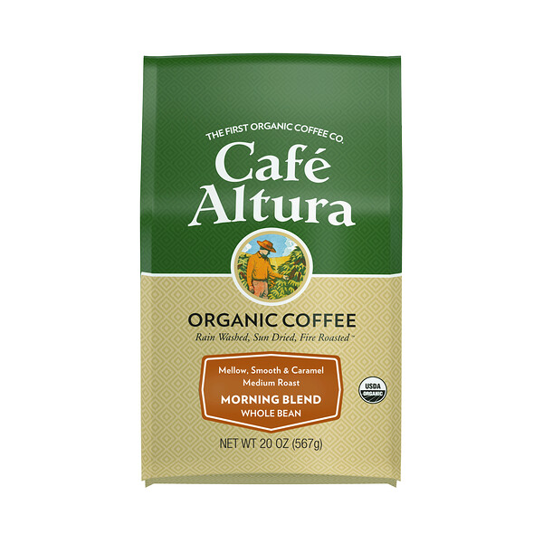 Cafe Altura, Organic Coffee, Morning Blend, Medium Roast, Whole Bean, 20 oz (567 g)