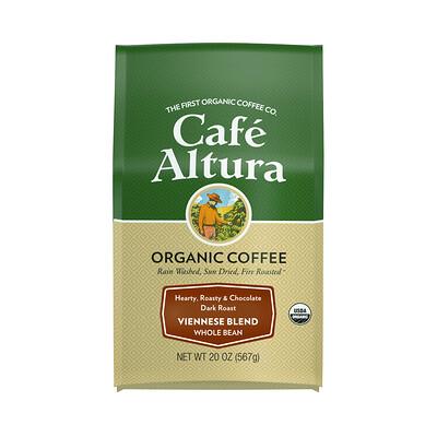 Купить Cafe Altura Organic Coffee, Viennese Blend, Dark Roast, Whole Bean, 20 oz (567 g)