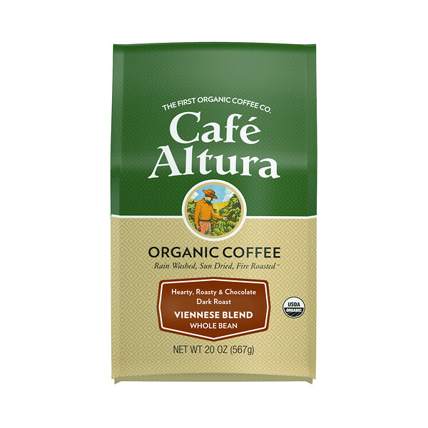 Organic Coffee, Viennese Blend, Dark Roast, Whole Bean, 20 oz (567 g)