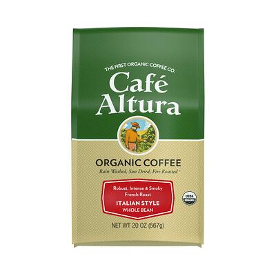 Купить Cafe Altura Organic Coffee, Italian Style, French Roast, Whole Bean, 20 oz (567 g)