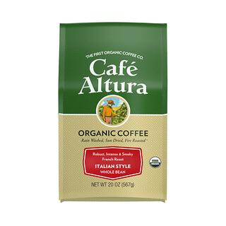 Cafe Altura, Organic Coffee, Italian Style, Whole Bean, French Roast, 20 oz (567 g)