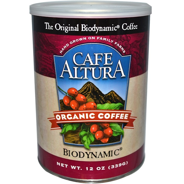 Cafe Altura, Organic Fresh Ground Coffee, Biodynamic, 12 oz (339 g) (Discontinued Item)