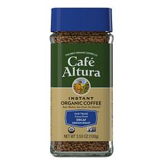 Cafe Altura, 即溶有機咖啡,中度烘焙,無因,冷凍乾燥,3.53 盎司(100 克)
