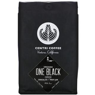 Cafe Altura, Organic Centri Coffee, One Black, Espresso, Whole Bean, Chocolate + Fruit Jam, 12 oz (340 g)