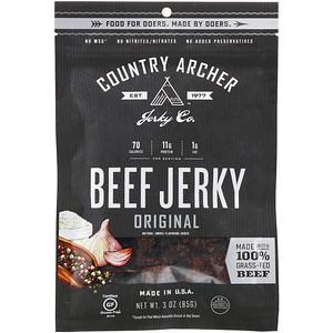 Country Archer Jerky, Beef Jerky, Original, 3 oz (85 g) отзывы покупателей