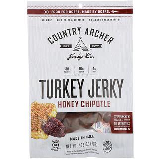 Country Archer Jerky, Turkey Jerky, Honey Chipotle, 2.75 oz (78 g)