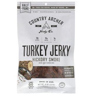 Country Archer Jerky, All Natural Turkey Jerky, Hickory Smoke, 8 oz (226.8 g)