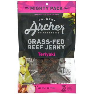 Country Archer Jerky, Grass-Fed Beef Jerky, Teriyaki, 7 oz (198 g)