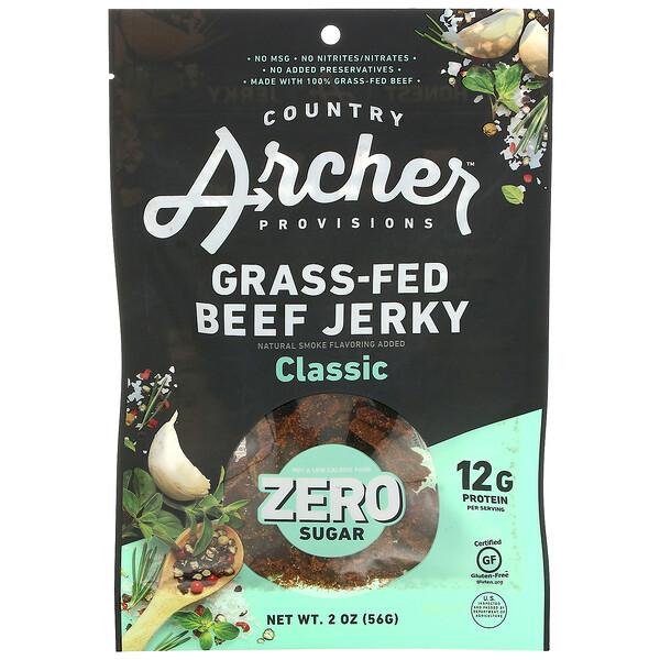 Grass-Fed Beef Jerky, Zero Sugar, Classic, 2 oz (56 g)