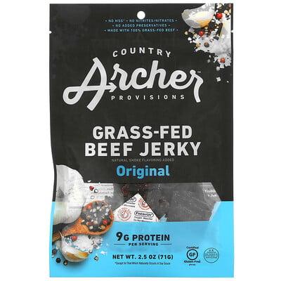 Country Archer Jerky Grass-Fed Beef Jerky, Original, 2.5 oz (71 g)