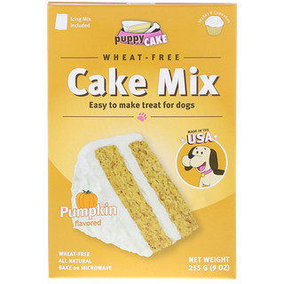 Puppy Cake, Wheat-Free Cake Mix, For Dogs, Pumpkin Flavored, 9 oz (255 g)