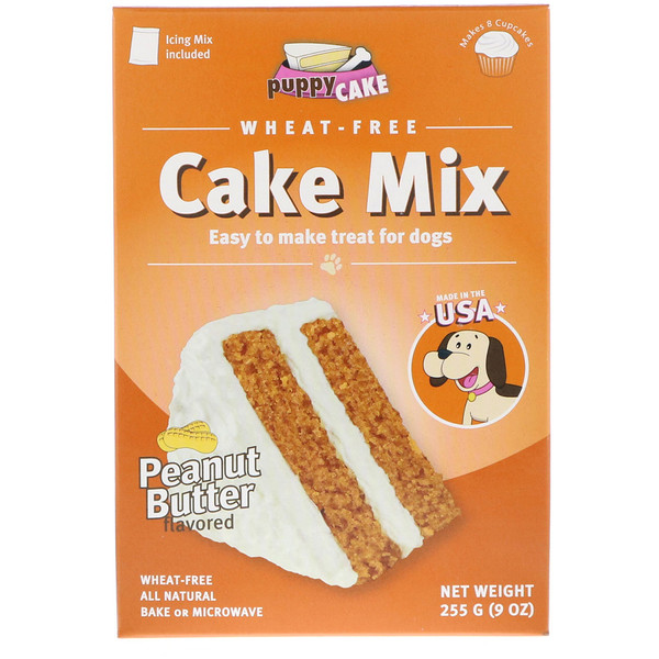 Wheat-Free Cake Mix, For Dogs, Peanut Butter Flavored, 9 oz (255 g)