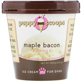 Puppy Cake, Ice Cream Mix For Dogs, Maple Bacon Flavor, 5.25 oz (148.8 g)
