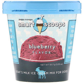 Puppy Cake, Goat's Milk Ice Cream Mix For Dogs, Blueberry Flavor, 5.35 oz (151.7 g)