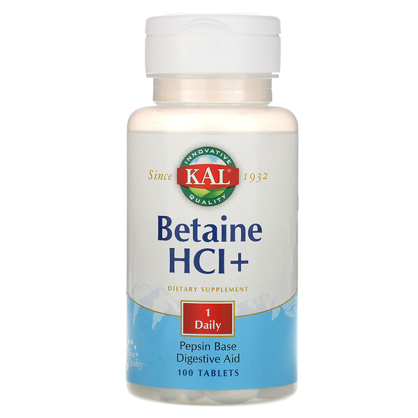 Betaine HCl+, 100 Tablets