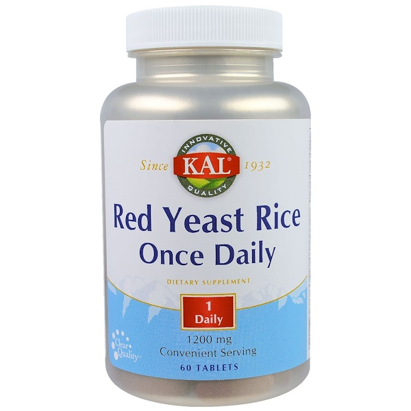 KAL, Red Yeast Rice, Once Daily, 1200 mg, 60 Tablets (Discontinued Item)