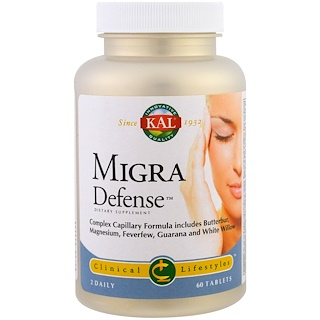 KAL, MigraDefense, 60 Tablets