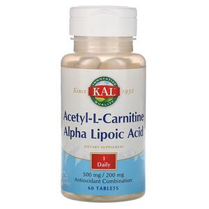 КАЛ, Acetyl-L-Carnitine & Alpha Lipoic Acid, 60 Tablets отзывы