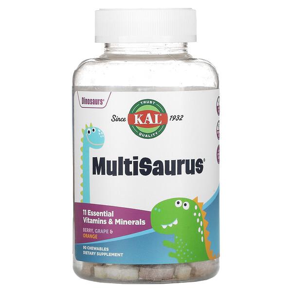 MultiSaurus, Berry, Grape & Orange, 90 Chewables