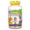KAL, MultiSaurus, витамины и минералы, со вкусом ягод, винограда и апельсина, 180жевательных таблеток