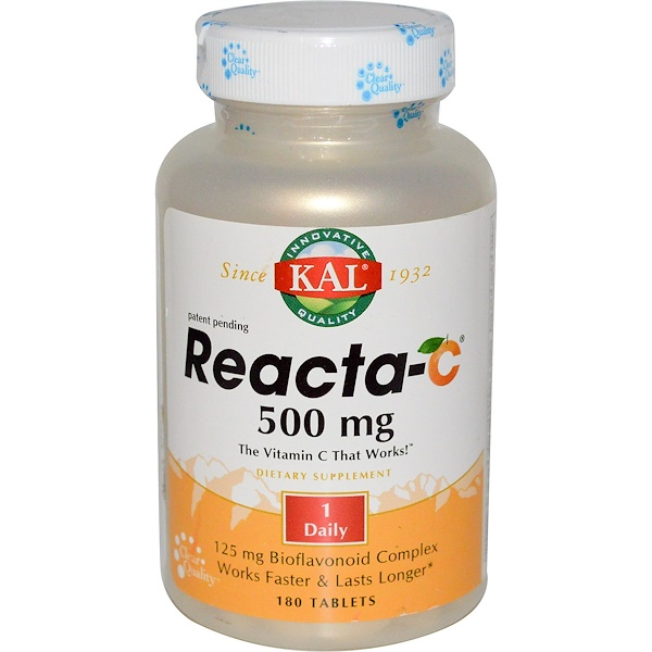 KAL, Reacta-C, 500 mg, 180 Tablets (Discontinued Item)