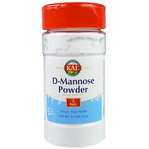 KAL, D-Mannose Powder, 2.5 oz (72 g) (Discontinued Item)