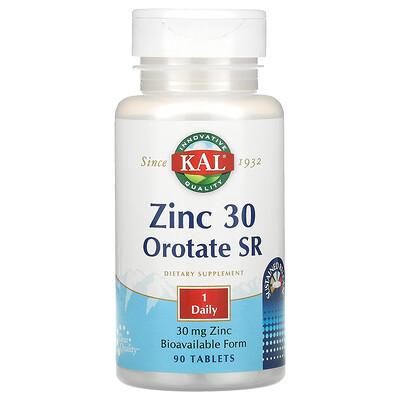 KAL Zinc/ Orotate SR, 30 mg, 90 Tablets