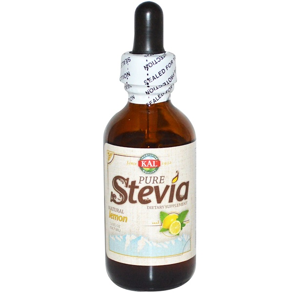 KAL, Pure Stevia, Natural Lemon, 1.8 fl oz (54.7 ml) (Discontinued Item)