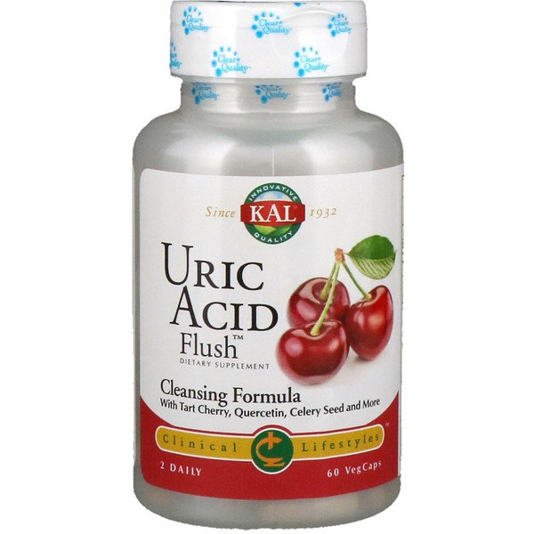 KAL, Uric Acid Flush,60粒植物膠囊