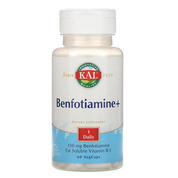 Benfotiamine+, 150 mg, 60 Cápsulas vegetales
