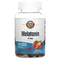KAL, Melatonin, Strawberry, 5 mg, 60 Gummies