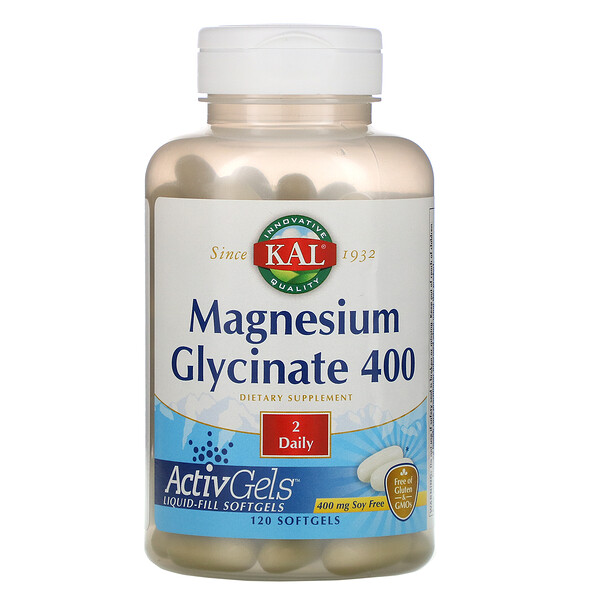Magnesium Glycinate 400, 400 mg, 120 Softgels