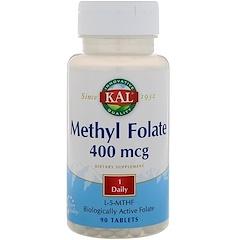 KAL, 甲基葉酸鹽,400 mcg, 90片
