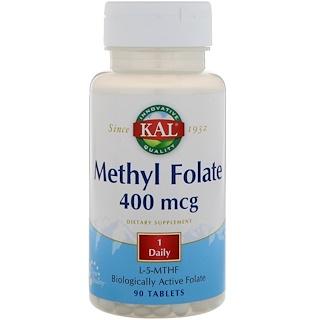 KAL, Metilfolato, 400 mcg, 90 Comprimidos