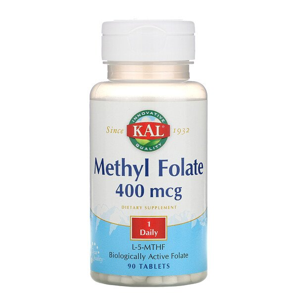Methyl Folate, 400 mcg, 90 Tablets