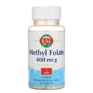 КАЛ, Methyl Folate, 400 mcg, 90 Tablets отзывы