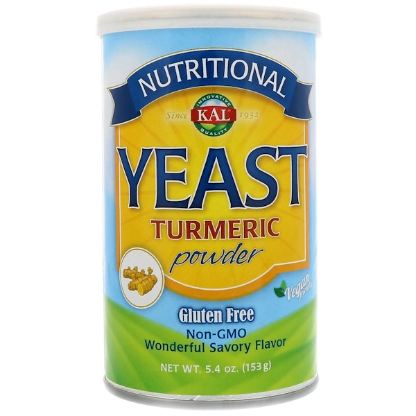 KAL, Nutritional Yeast, Turmeric Powder, 5、4 oz (153 g)