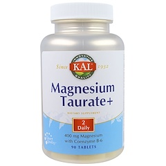 KAL, マグネシウムタウレート+, 400 mg, 90錠