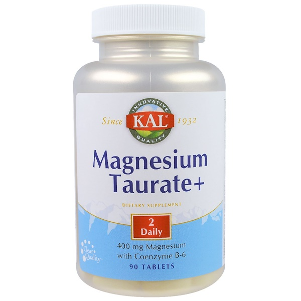KAL, Magnesium Taurate+, 400 mg, 90 Tablets