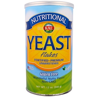 KAL, Nutritional, Yeast Flakes, Unsweetened, 12 oz (340 g)