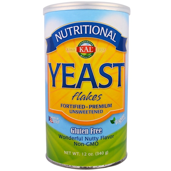 Nutritional, Yeast Flakes, Unsweetened, 12 oz (340 g)