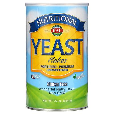 Купить KAL Nutritional Yeast Flakes, Wonderful Nutty Flavor, Unsweetened, 22 oz (624 g)