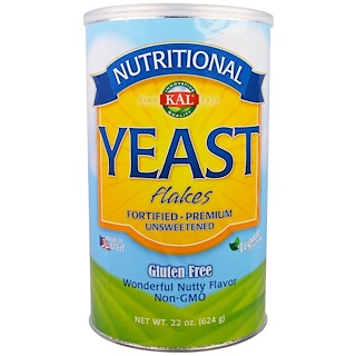 KAL, Nutritional Yeast Flakes, Unsweetened, 1.4 lbs (624 g)
