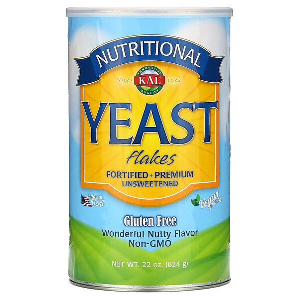 KAL, Nutritional Yeast Flakes, Wonderful Nutty Flavor, Unsweetened, 22 oz (624 g)