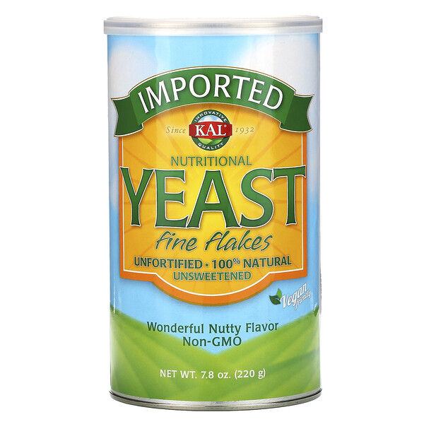Imported Nutritional Yeast, Fine Flakes, 7.8 oz (220 g)
