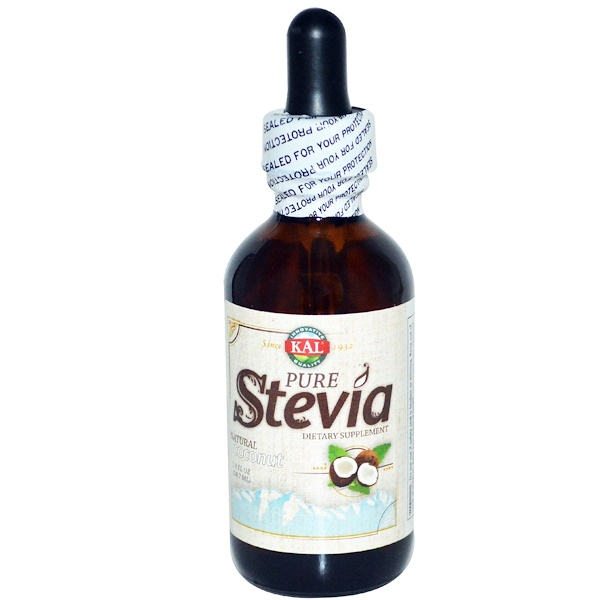 KAL, Pure Stevia, Natural Coconut, 1.8 fl oz (54.7 ml) (Discontinued Item)