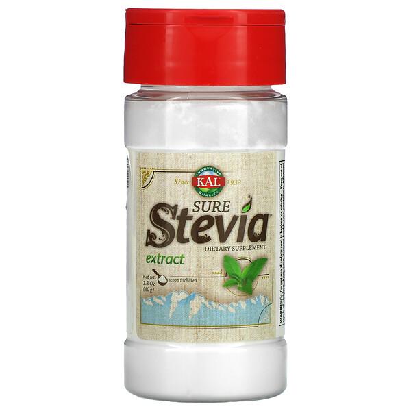 KAL, Extracto de estevia puro, 1,3 oz (40 g)