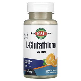 KAL, L-Glutathione, Orange, 25 mg, 90 Micro Tablets